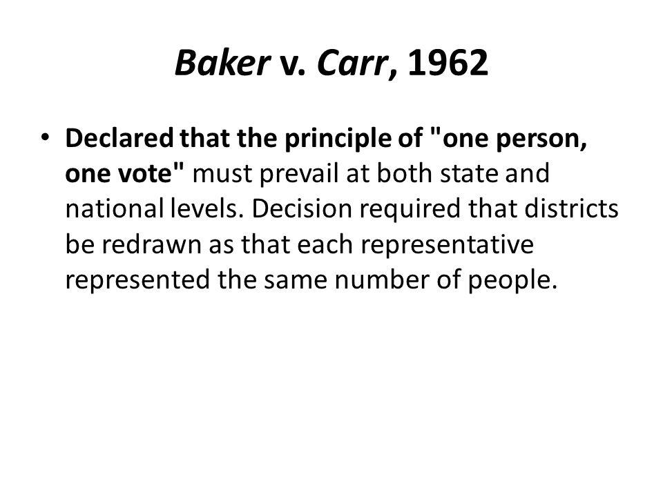 Baker v. Carr, 1962