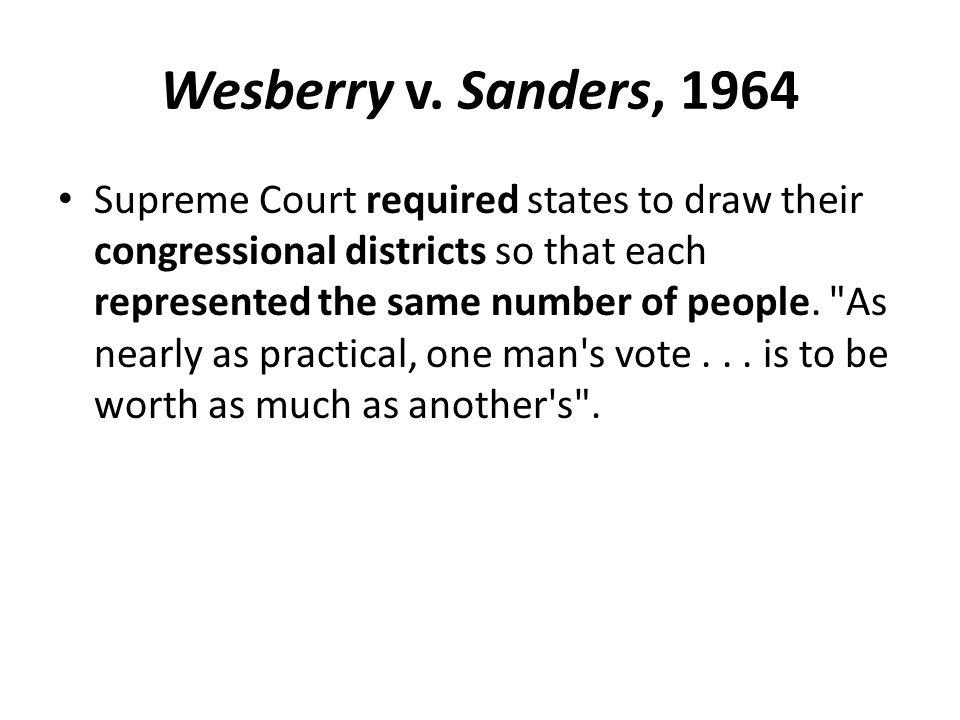 Wesberry v. Sanders, 1964