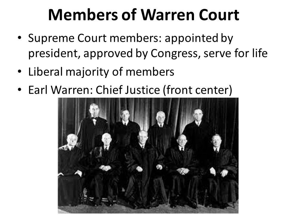 Members of Warren Court