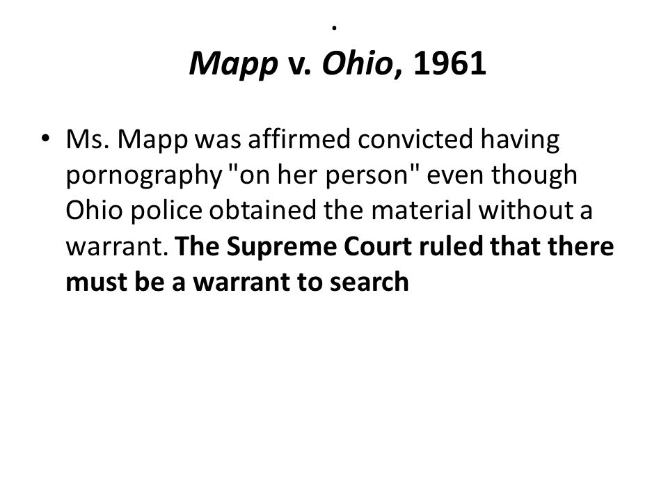 . Mapp v. Ohio, 1961