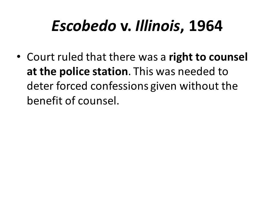 Escobedo v. Illinois, 1964