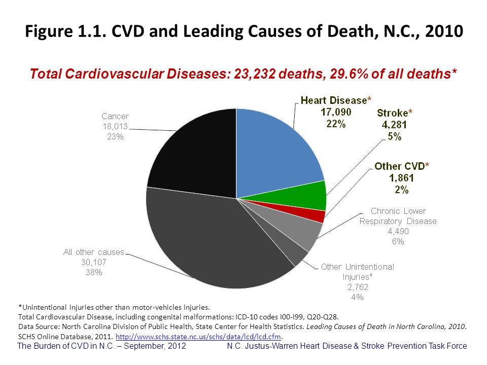 Figure 1.1. CVD and Leading Causes of Death, N.C., 2010