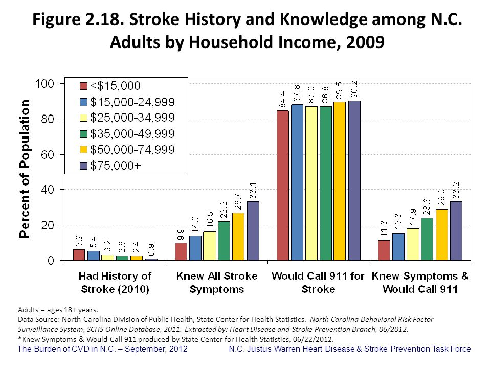 Figure 2. 18. Stroke History and Knowledge among N. C
