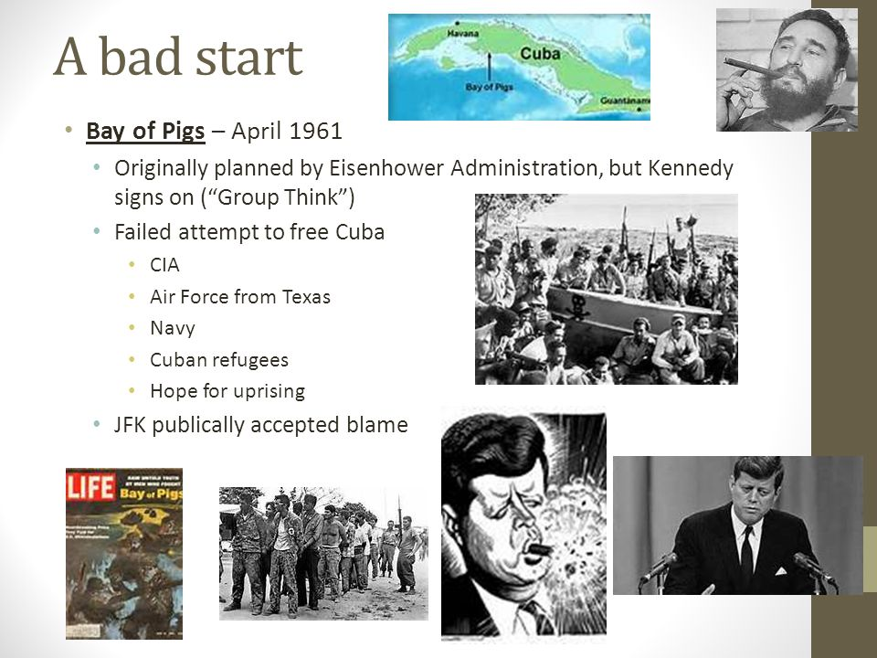 A bad start Bay of Pigs – April 1961