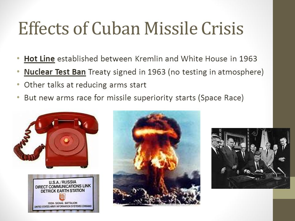 Effects of Cuban Missile Crisis