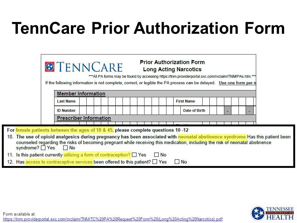 TennCare Prior Authorization Form