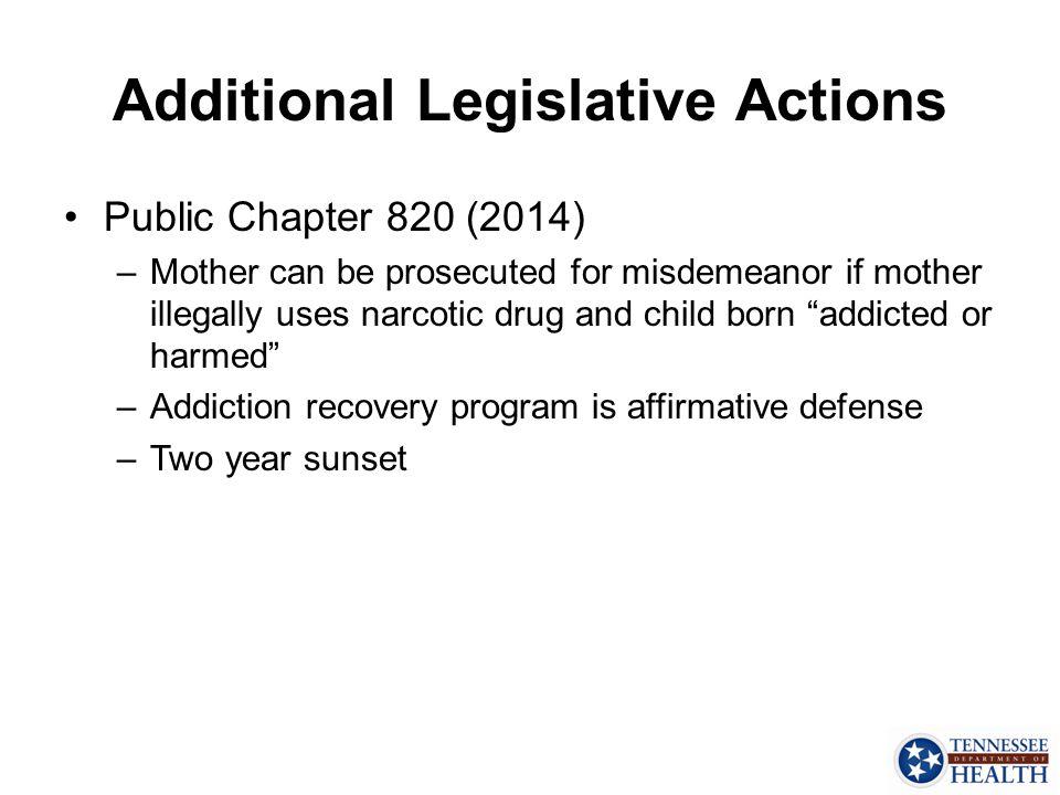 Additional Legislative Actions