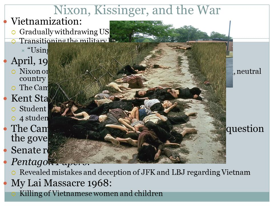 Nixon, Kissinger, and the War