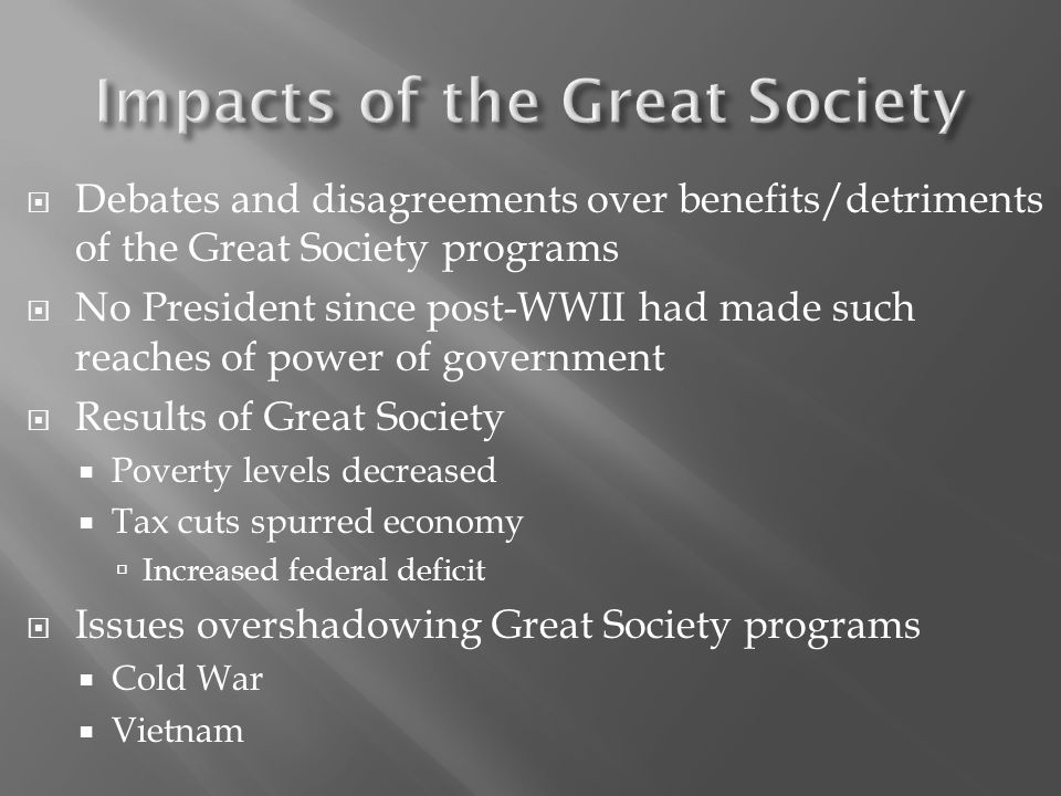 Impacts of the Great Society