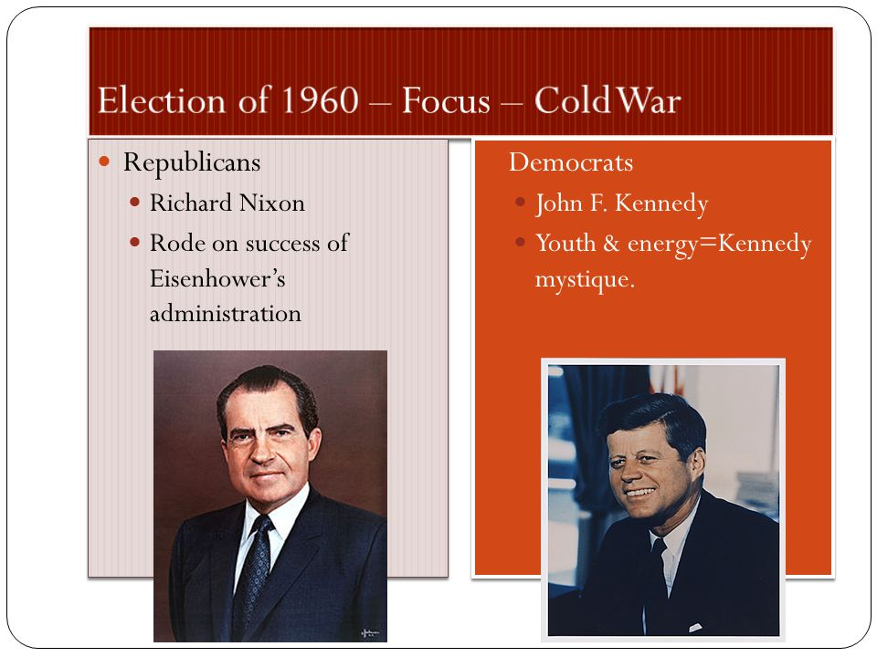 Election of 1960 – Focus – Cold War
