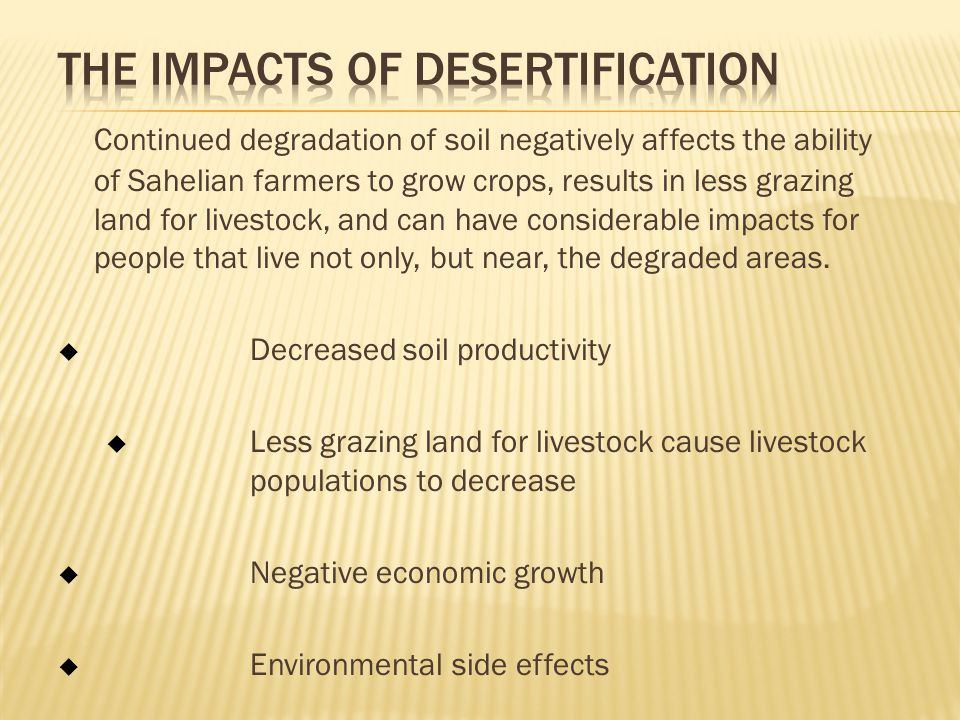 The Impacts of Desertification