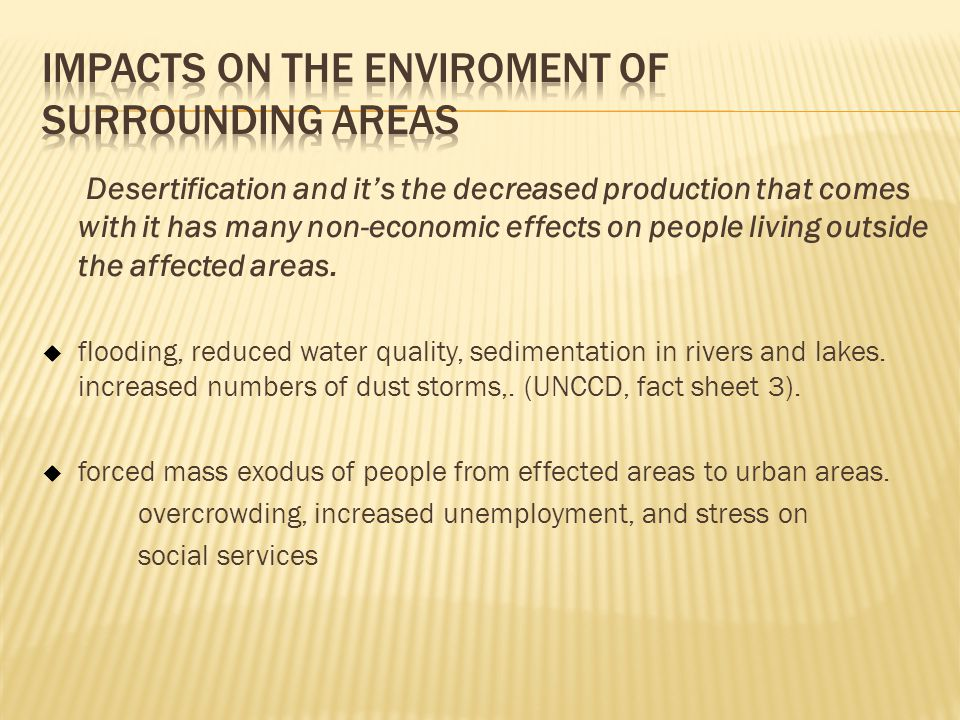 Impacts on the Enviroment of Surrounding Areas