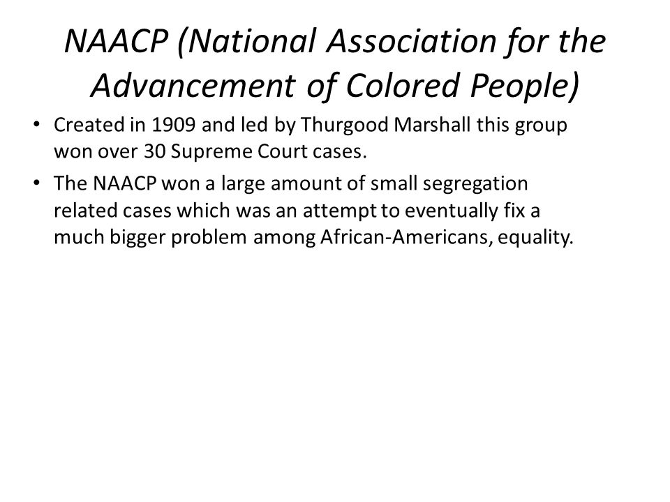 NAACP (National Association for the Advancement of Colored People)