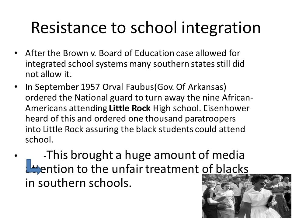 Resistance to school integration