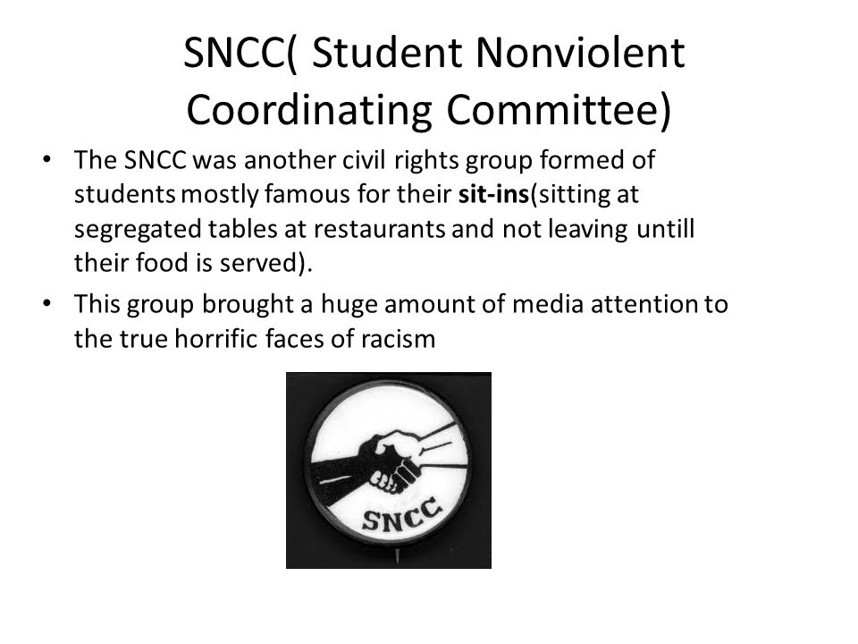 SNCC( Student Nonviolent Coordinating Committee)