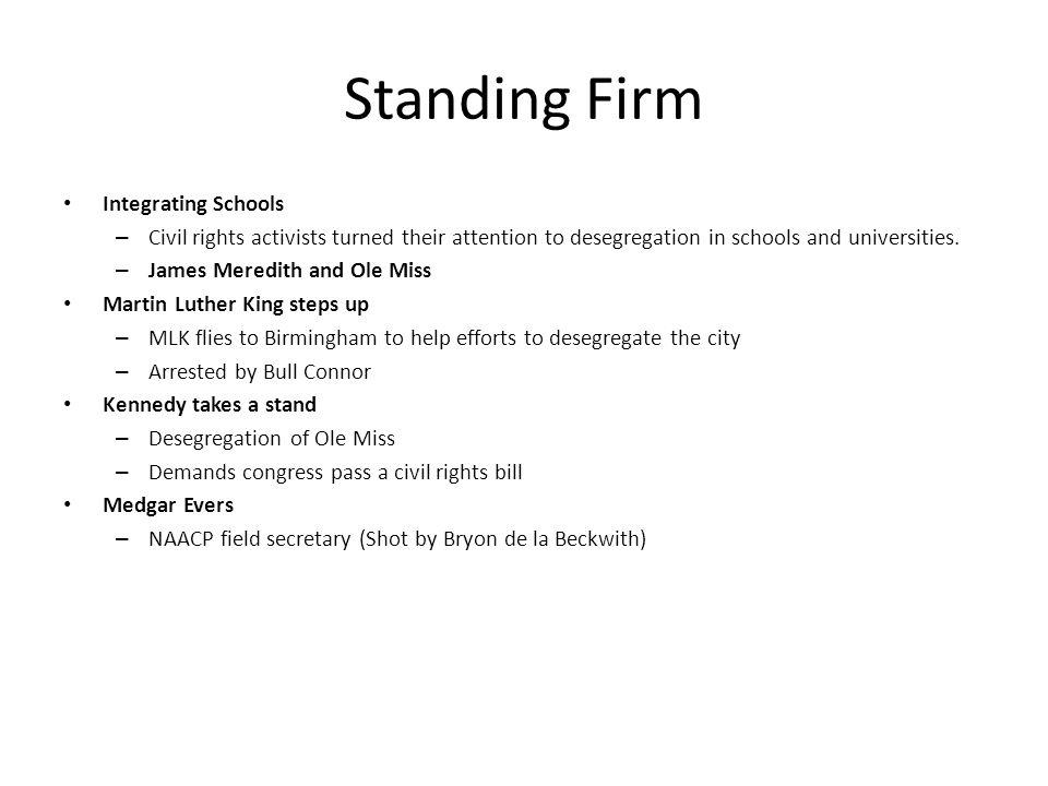 Standing Firm Integrating Schools