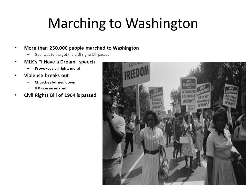 Marching to Washington
