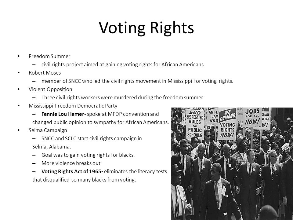 Voting Rights Freedom Summer