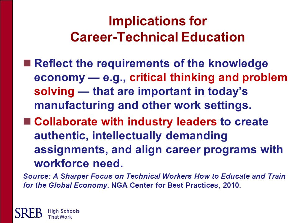Implications for Career-Technical Education