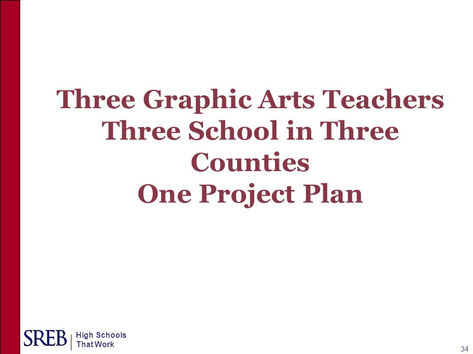 Three Graphic Arts Teachers Three School in Three Counties One Project Plan