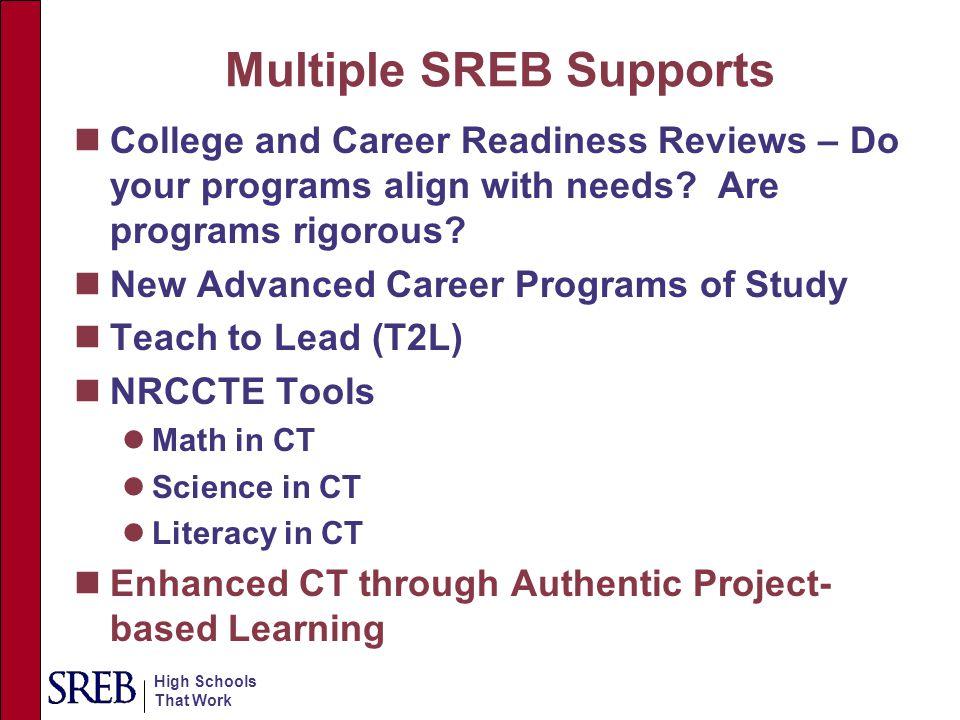 Multiple SREB Supports