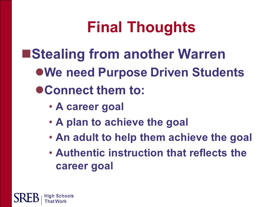 Final Thoughts Stealing from another Warren