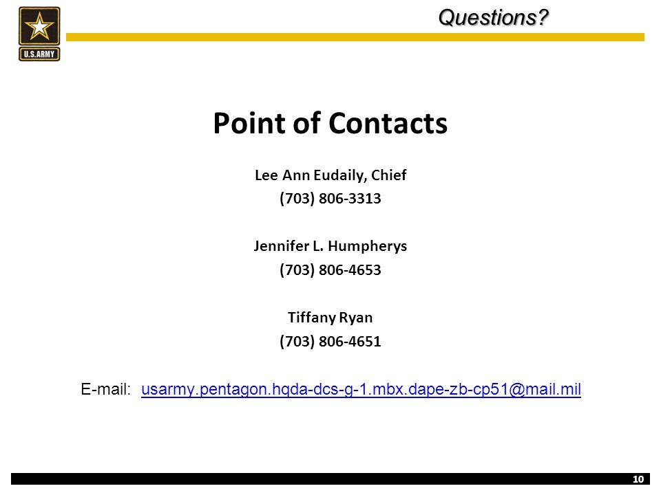 E-mail: usarmy.pentagon.hqda-dcs-g-1.mbx.dape-zb-cp51@mail.mil