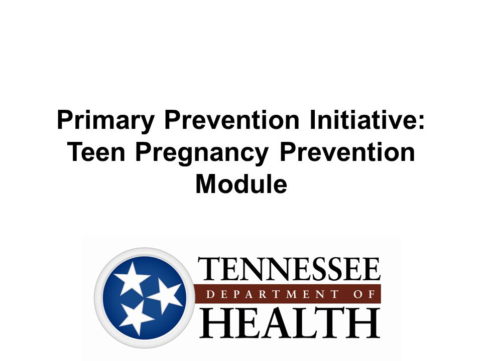 Primary Prevention Initiative: Teen Pregnancy Prevention Module
