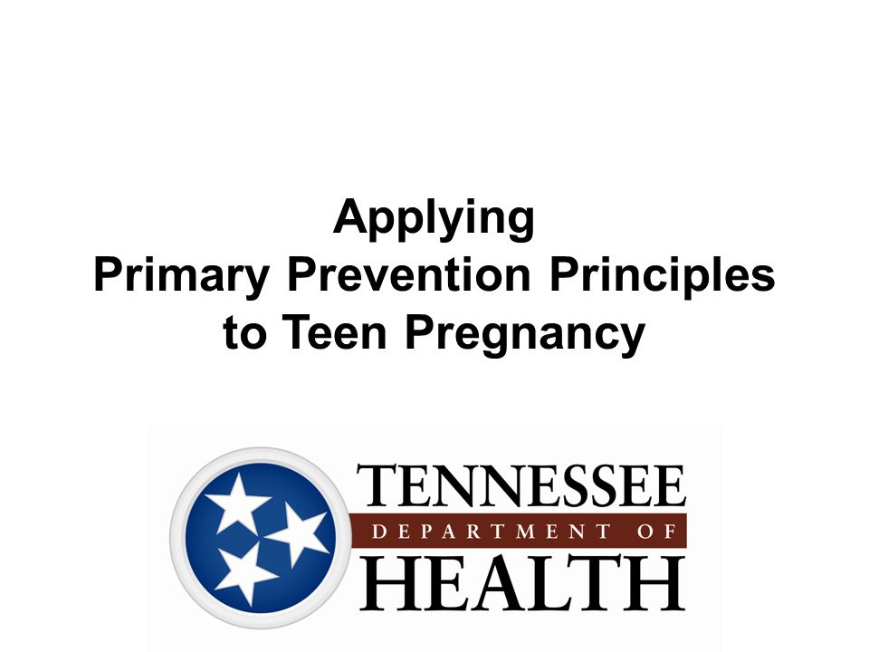 Applying Primary Prevention Principles to Teen Pregnancy