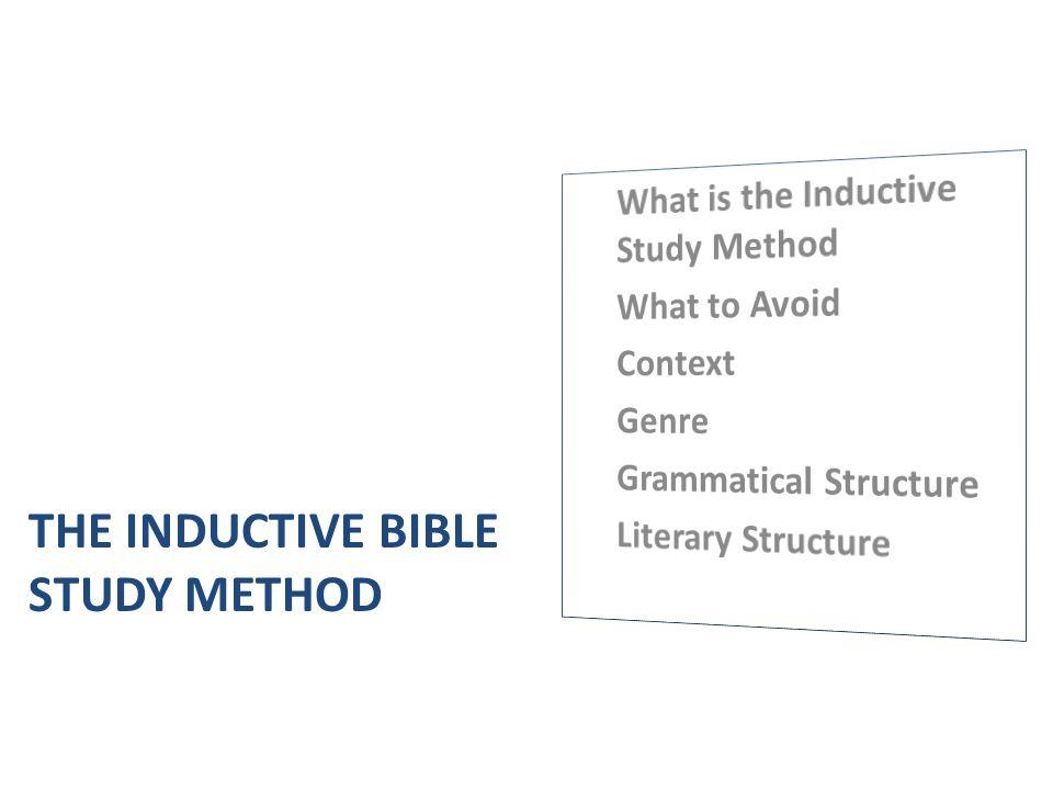 The Inductive Bible Study Method