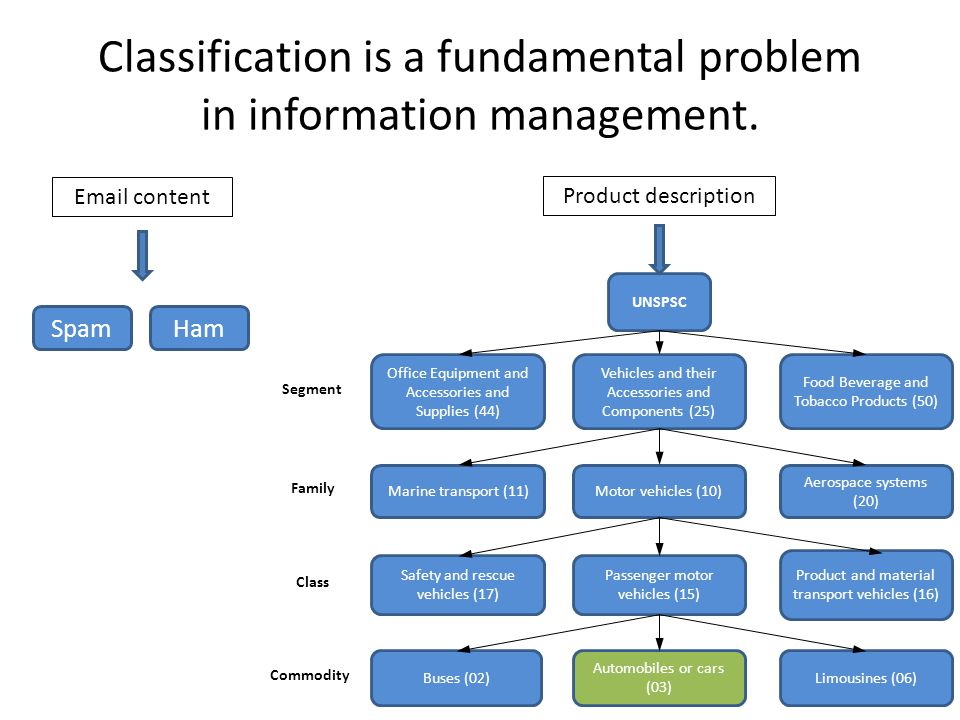 Classification is a fundamental problem in information management.