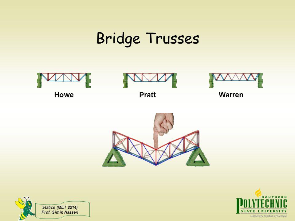 Bridge Trusses Howe Pratt Warren