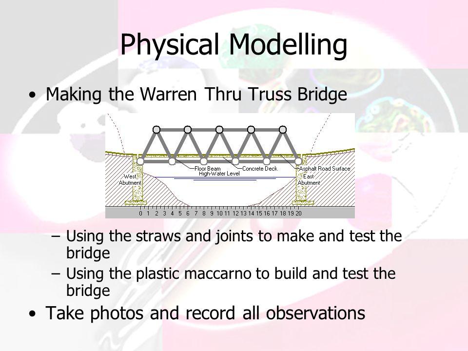 Physical Modelling Making the Warren Thru Truss Bridge