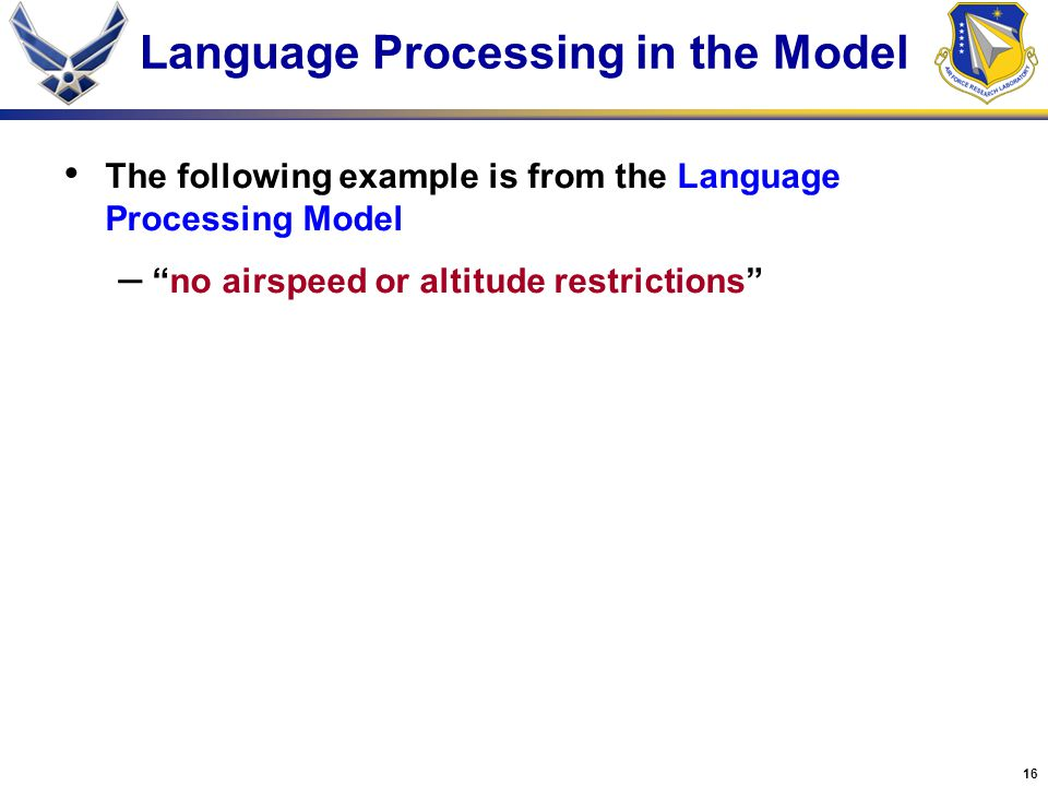 Language Processing in the Model