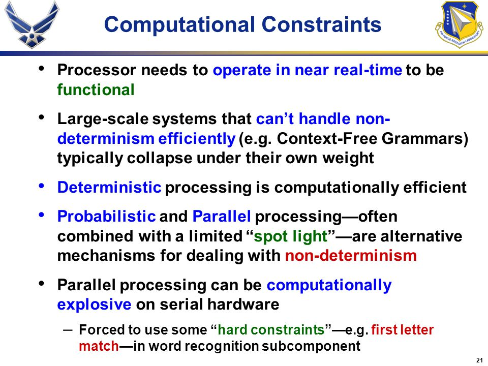 Computational Constraints