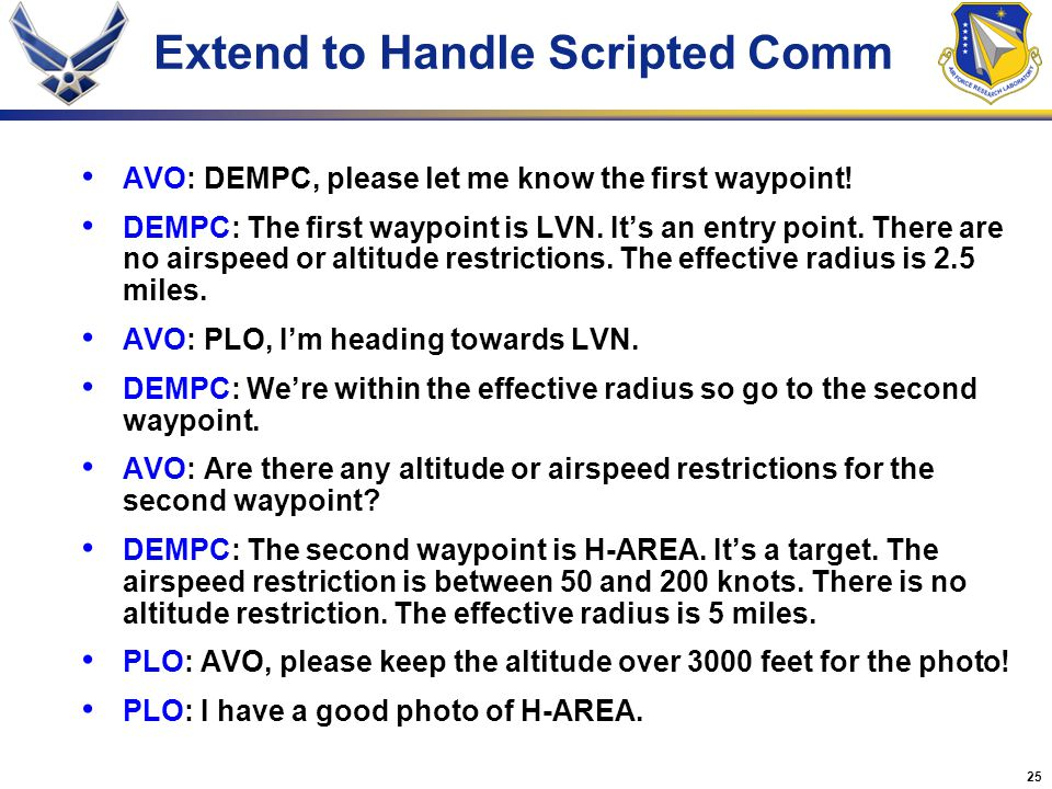 Extend to Handle Scripted Comm
