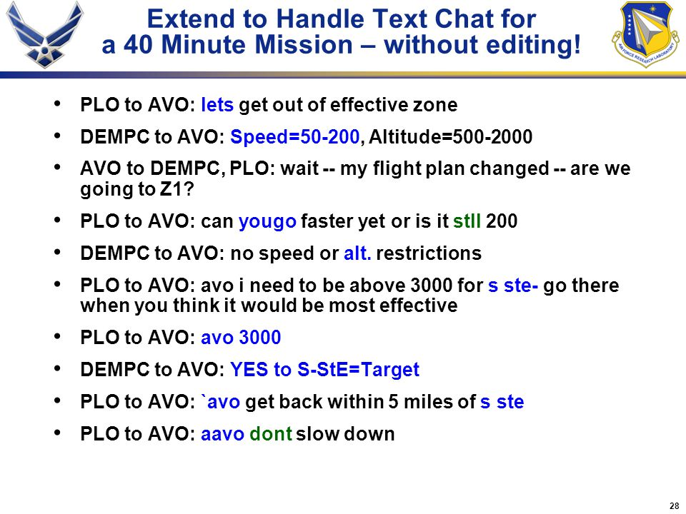 Extend to Handle Text Chat for a 40 Minute Mission – without editing!