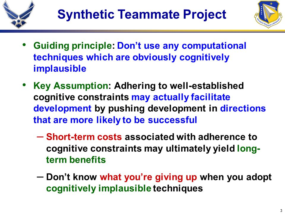 Synthetic Teammate Project