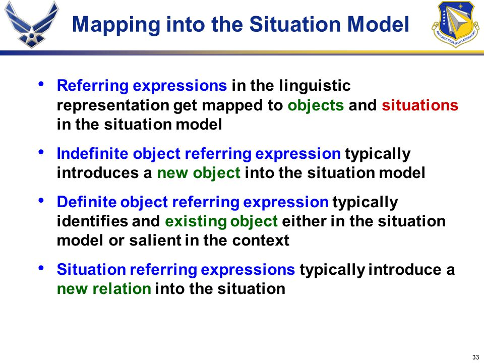 Mapping into the Situation Model