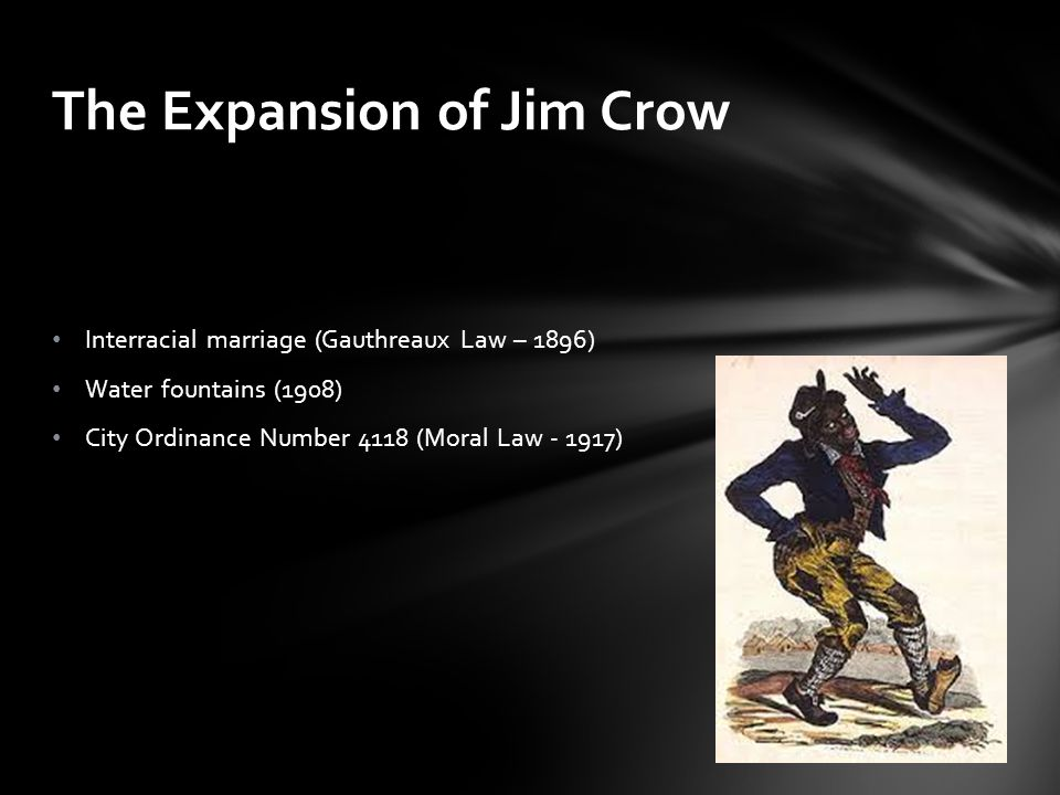 The Expansion of Jim Crow