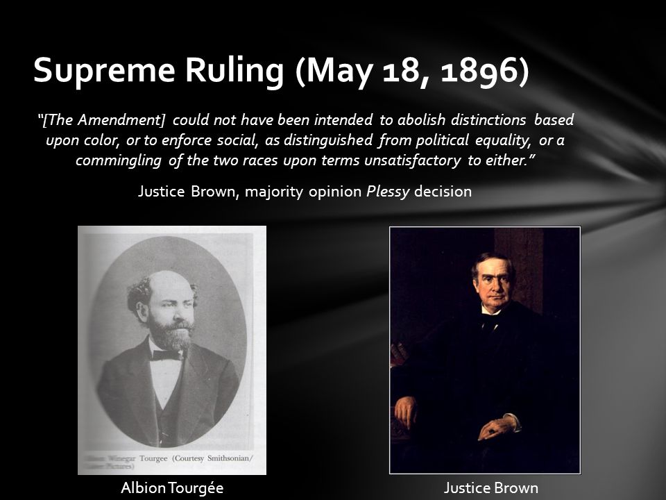 Supreme Ruling (May 18, 1896)
