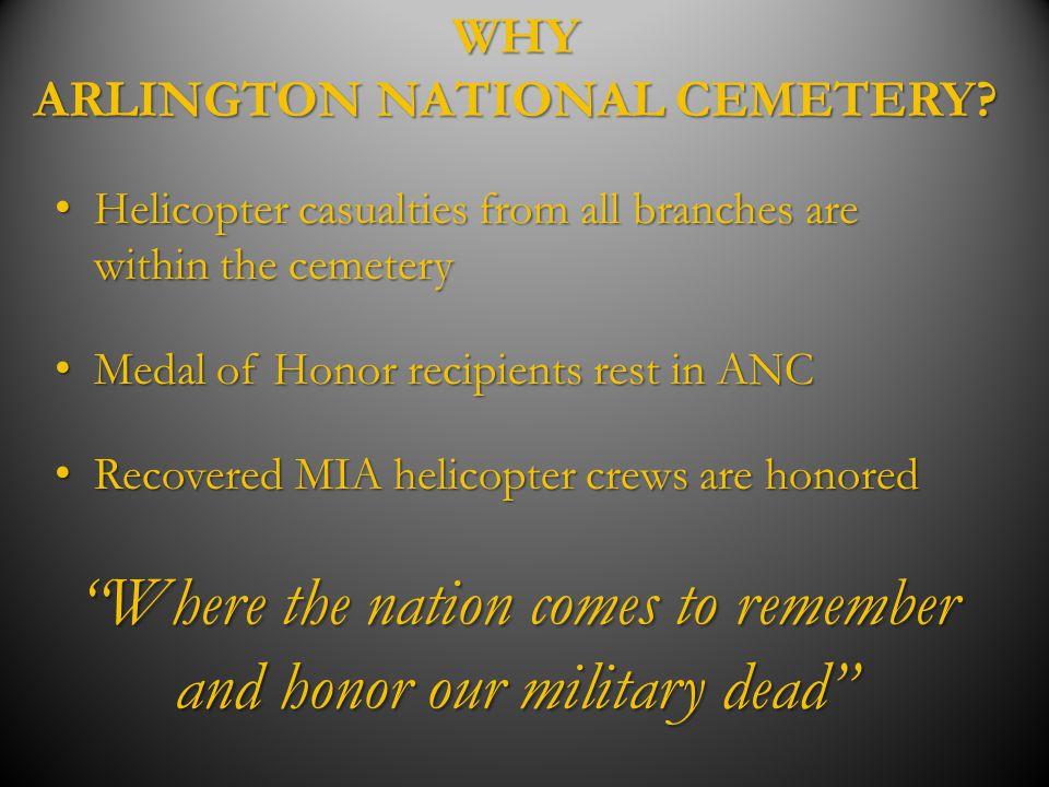 WHY ARLINGTON NATIONAL CEMETERY