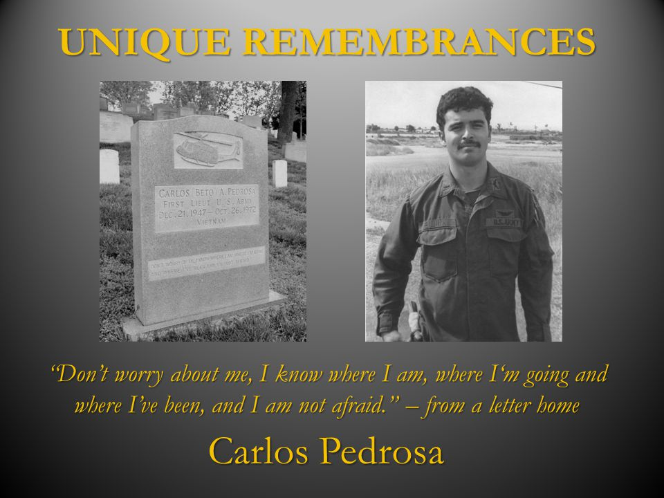 UNIQUE REMEMBRANCES Carlos Pedrosa