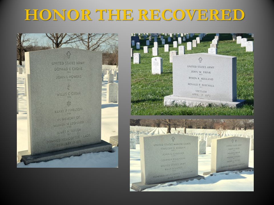 HONOR THE RECOVERED