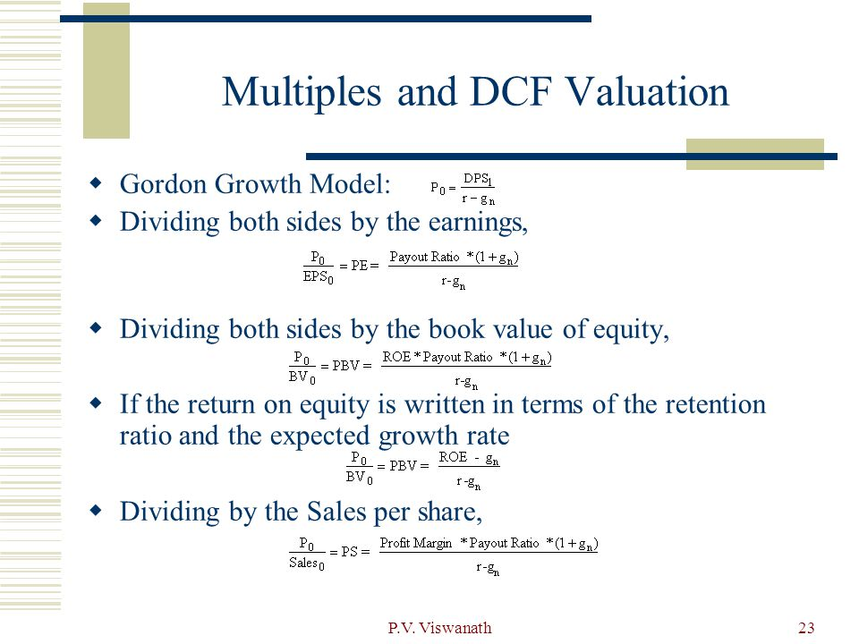 Multiples and DCF Valuation