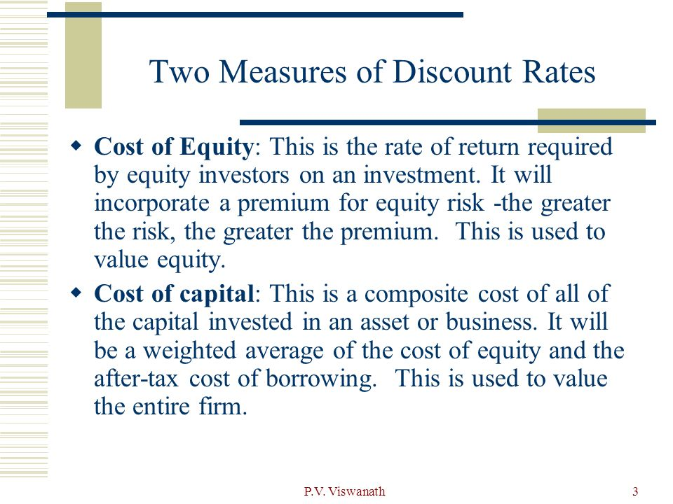Two Measures of Discount Rates