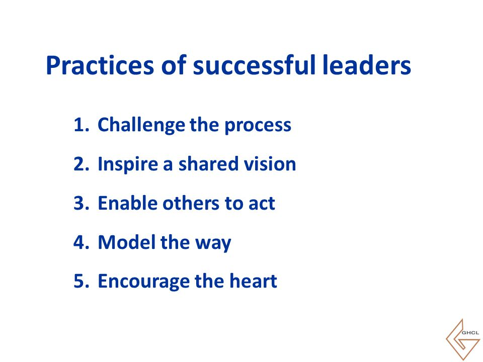 Practices of successful leaders