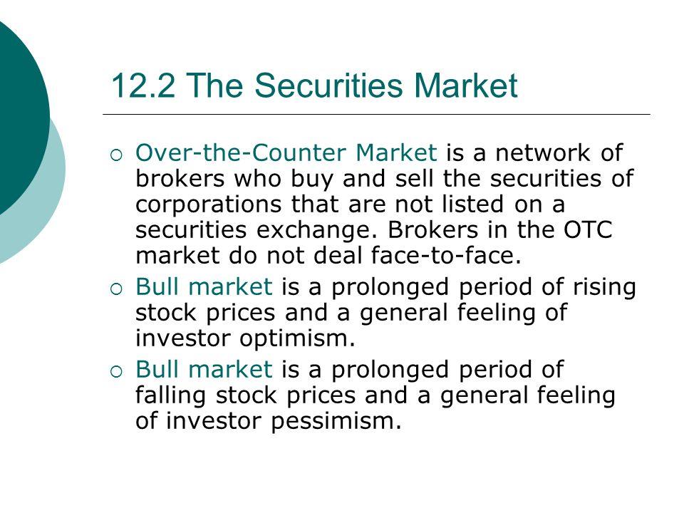 12.2 The Securities Market