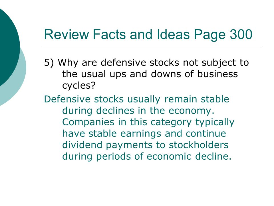 Review Facts and Ideas Page 300