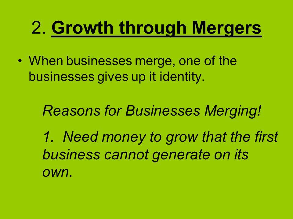 2. Growth through Mergers